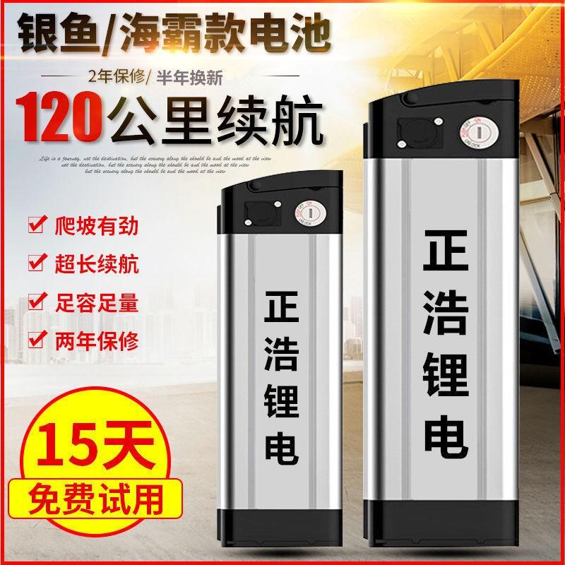 48v電動車鋰電池12ah15ah銀魚款海霸款原裝48v動力鋰電池通用20ah