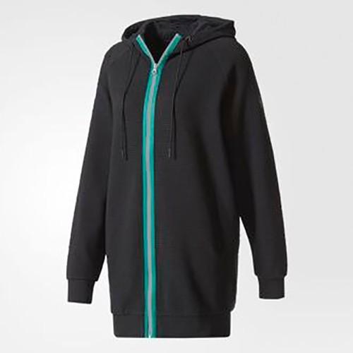 Adidas EQT Hooded Track Jacket 女裝 外套 連帽 休閒 純棉 黑【運動世界】BP9230