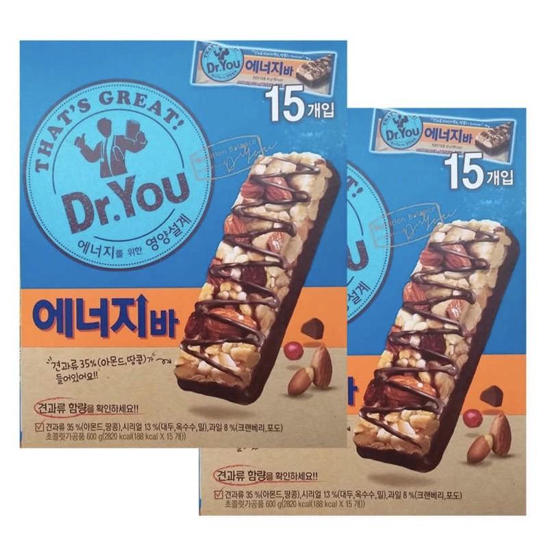 🇹🇼歐膩야🇰🇷 💓預購💓  韓國ORION好麗友 Dr.You 能量棒 堅果 巧克力棒 40克 15入