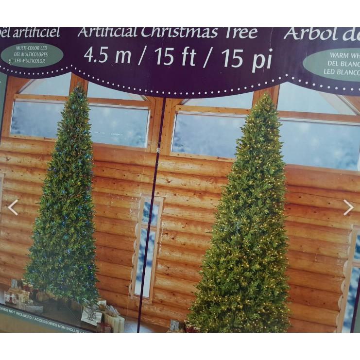 15呎 LED 聖誕樹 1900233 2100顆 LED 好市多買的18年約4.5M 非12呎
