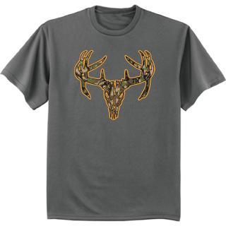 迷彩衫Deer骷髏獵犬T恤帶圓領的卡車司機深色灰色T恤給酷哥休閒男子件單性T恤給男人時裝T恤1