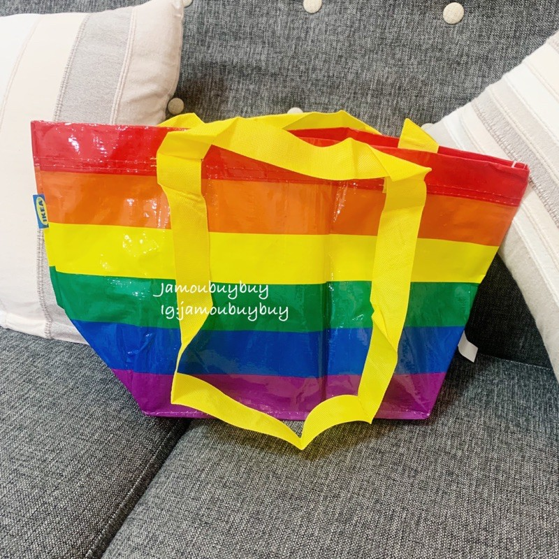 現貨🤖美國限定 IKEA 彩虹🌈購物袋 環保袋