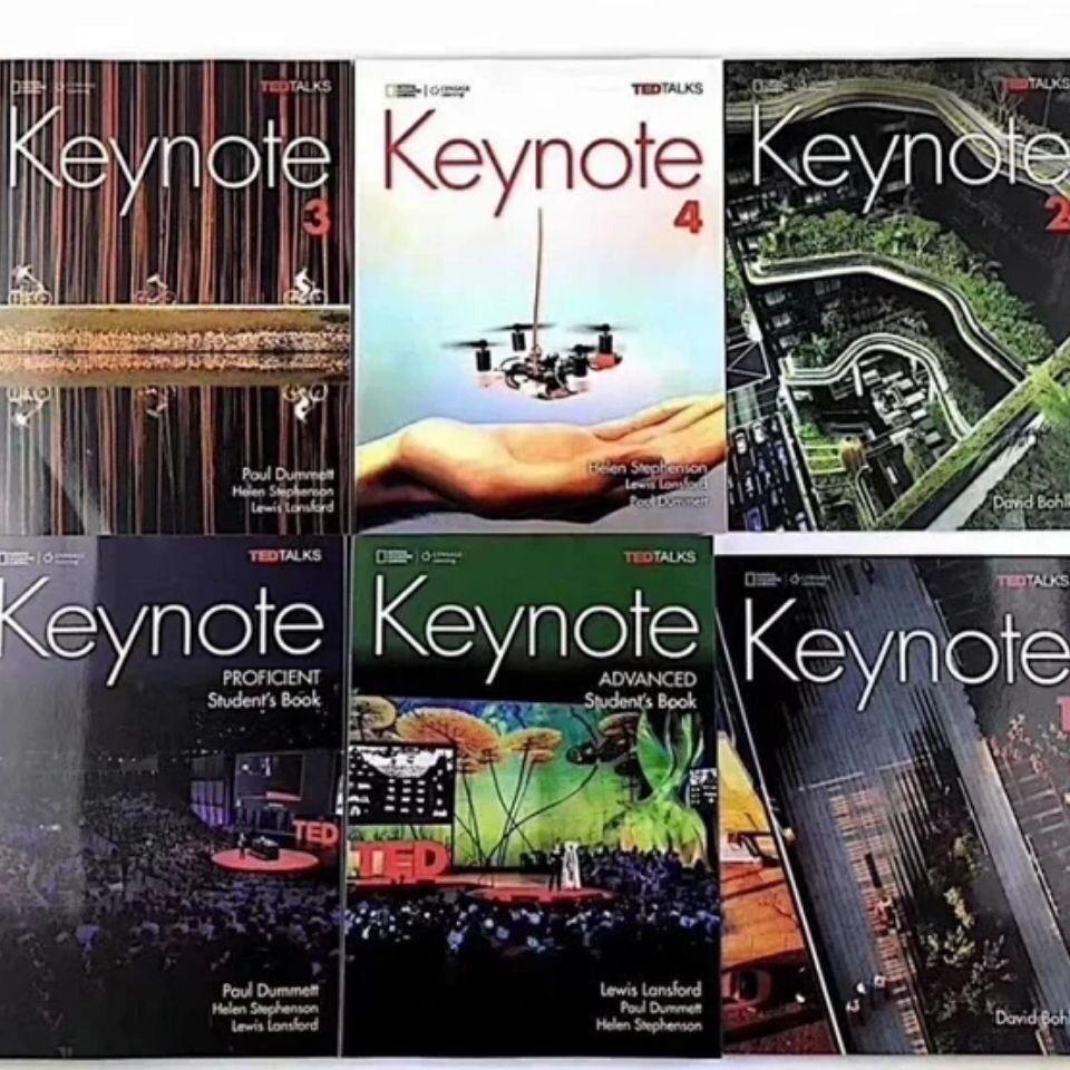 ⚡有貨秒發 keynote 4 青少綜合教材 1/2/3/4級國家地理 線上學習中學英語教材6冊 現貨