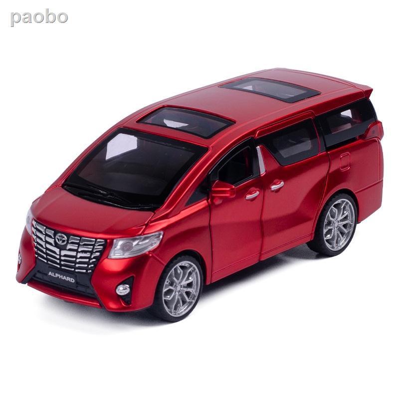 ▥◈○豐田 Alphard 汽車模型 1: 32 人造大型合金汽車商務車范兒童玩具車生日禮物盒裝
