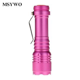 燈珠手電筒 新款3000LM XPE 家用應急強光手電筒 伸縮調焦三檔手電筒 夜間出行 糖果色 防水防身 特