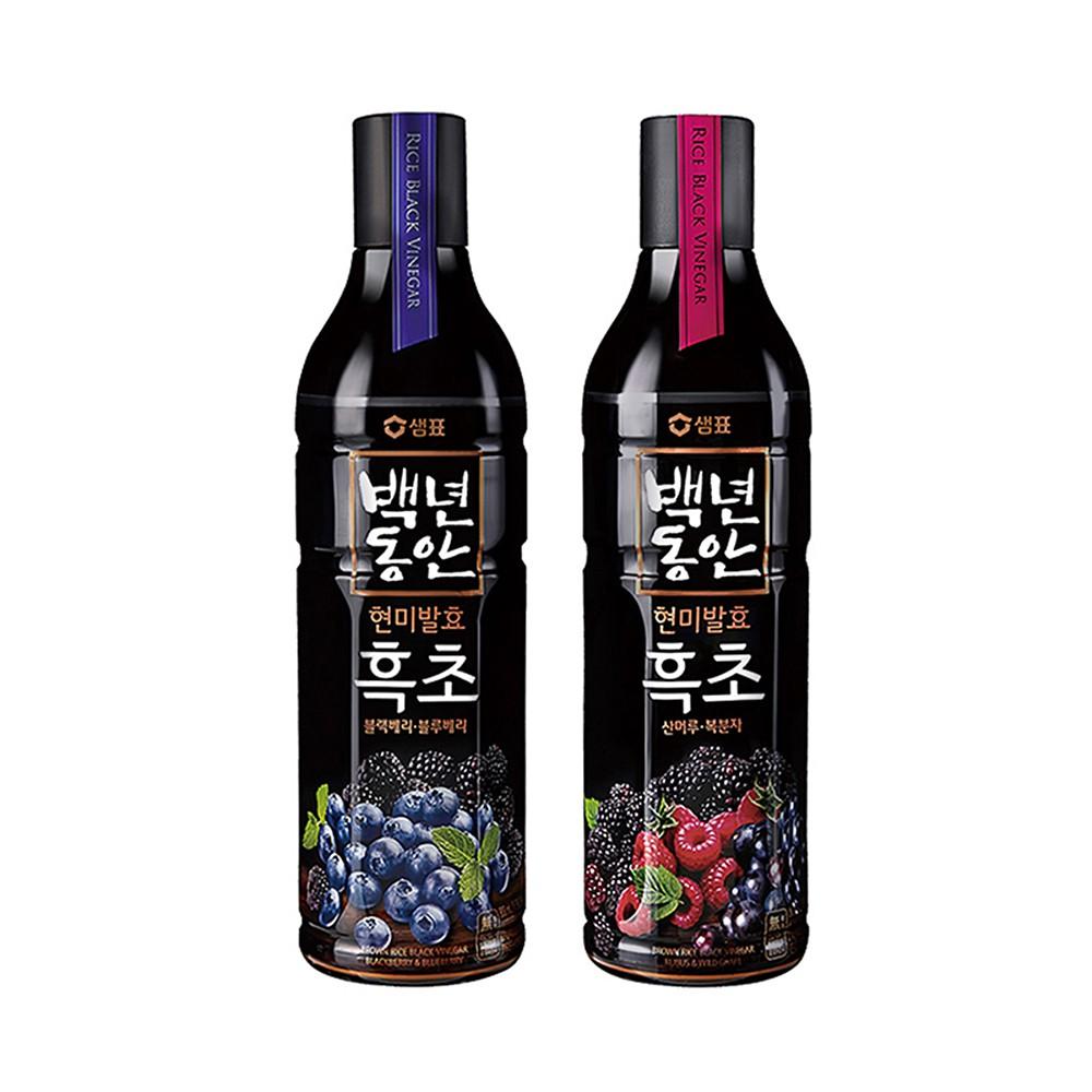 【韓味不二】膳府 玄米黑醋 900ml 口味任選 (黑莓&藍莓口味/山葡萄&覆盆子)