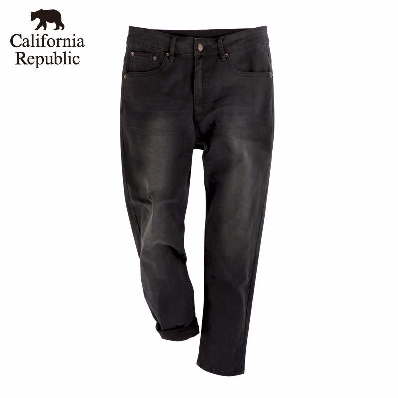 CALIFORNIA|基本款黑色牛仔褲(男)