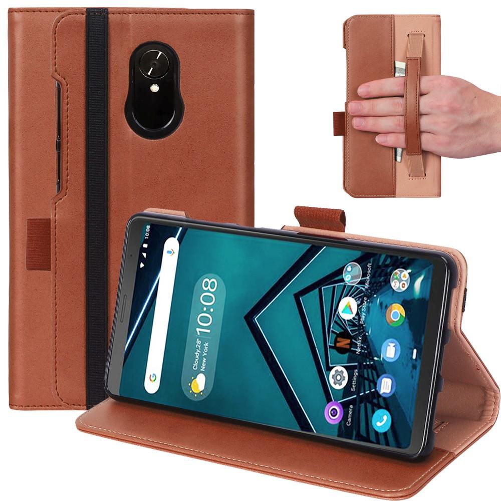 聯想 Tab V7 Tb-6505 / 2019 版 7 英寸 (無睡眠) 平板電腦手機殼復古質感 Pu 保護套