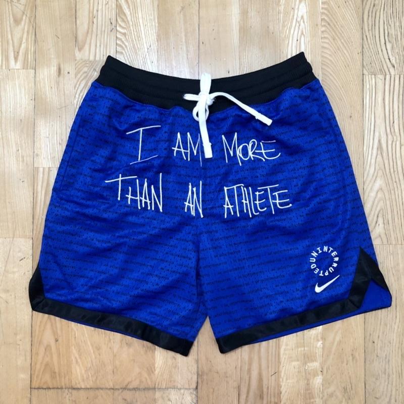 NIKE X UN MTAA LBJ Lebron James詹姆士 著用 球員穿搭 藍色電繡球褲 短褲