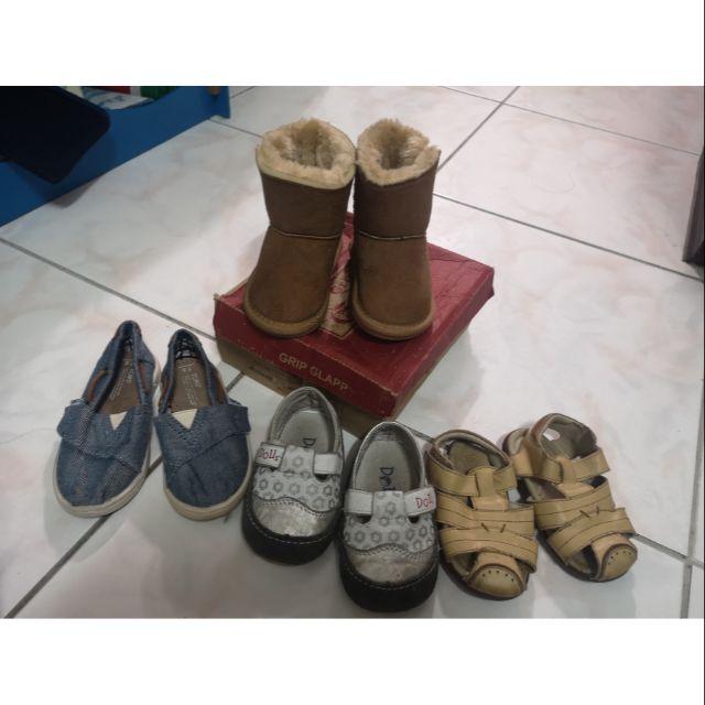 女童鞋 真皮涼鞋 雪靴 13cm 13.5cm 14cm 15cm TOMS 麗嬰房