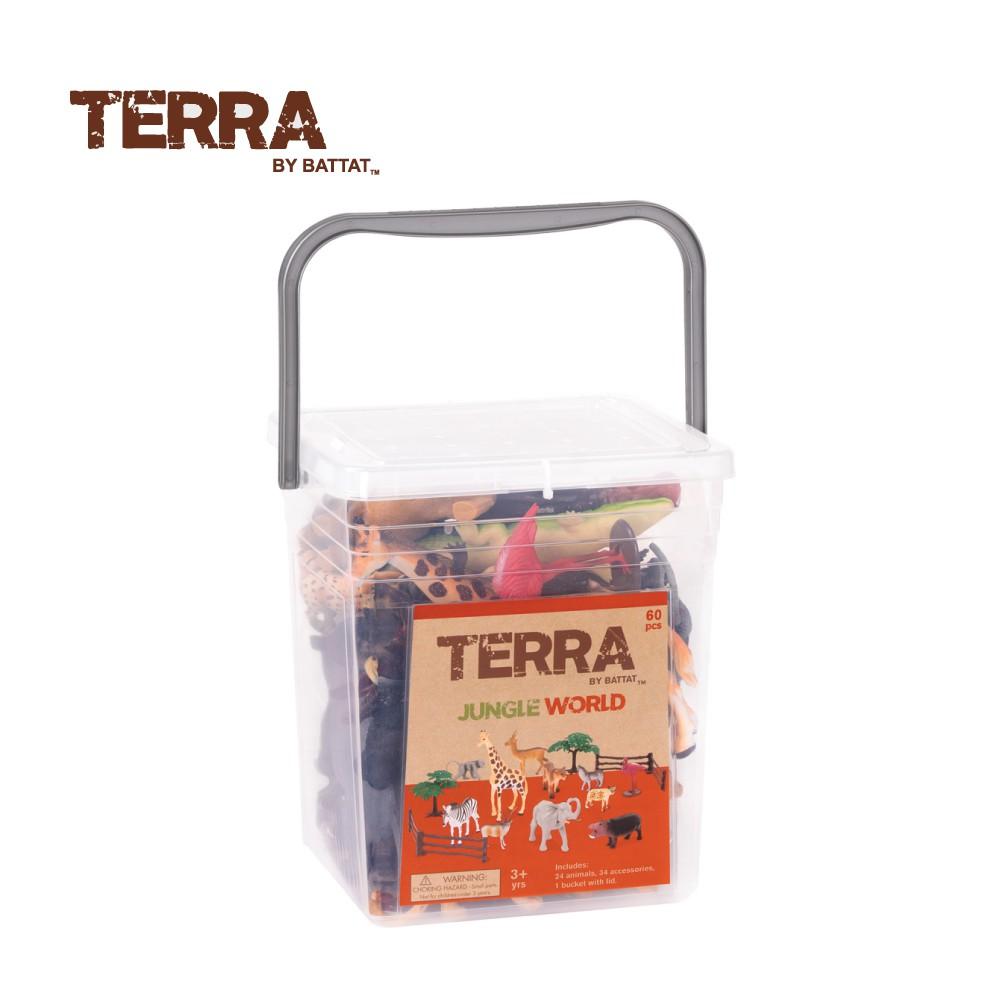TERRA 叢林世界(情境桶) 玩具 模型 動物