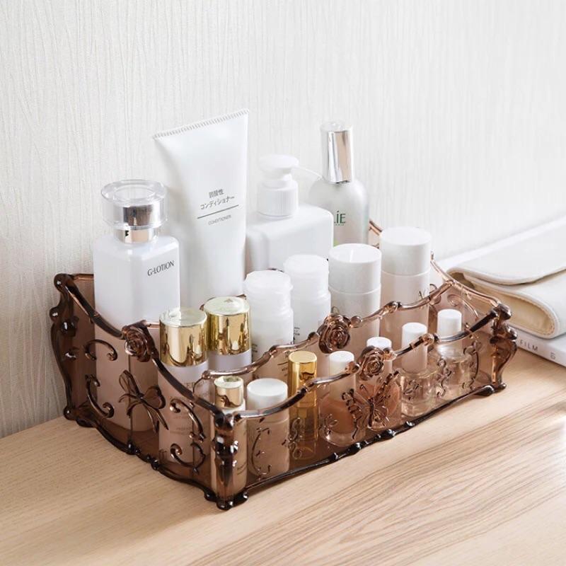 現貨到🎉「時尚收納」安娜蘇風 anna sui 化妝品 保養品收納 梳妝台 口紅收納 透明 壓克力收納盒