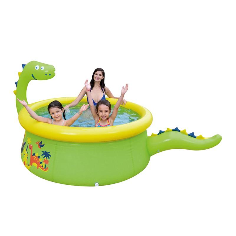 【Healgenart】可愛恐龍噴水泳池 戲水池 噴水遊戲池 游泳池 兒童水池 游泳玩水 噴水水池 游泳玩水