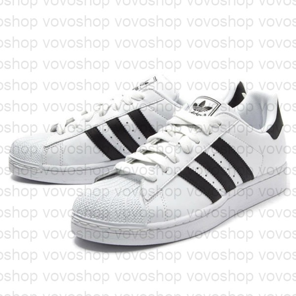 cheap for discount d54f9 5eaf6 【VOVO】Adidas ORIGINALS SUPERSTAR II 貝殼頭 黑白 基本 G17068 復古 休閒