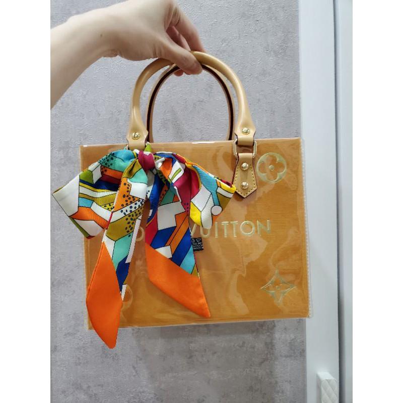 LV紙袋改造包-燙金款(正品)送絲巾