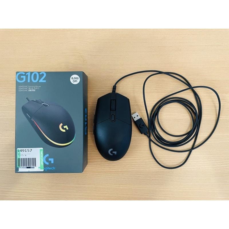 【二手】【Logitech 羅技】 K380 黑色藍牙無線鍵盤、G102 第二代 RGB 炫彩遊戲滑鼠 (黑)