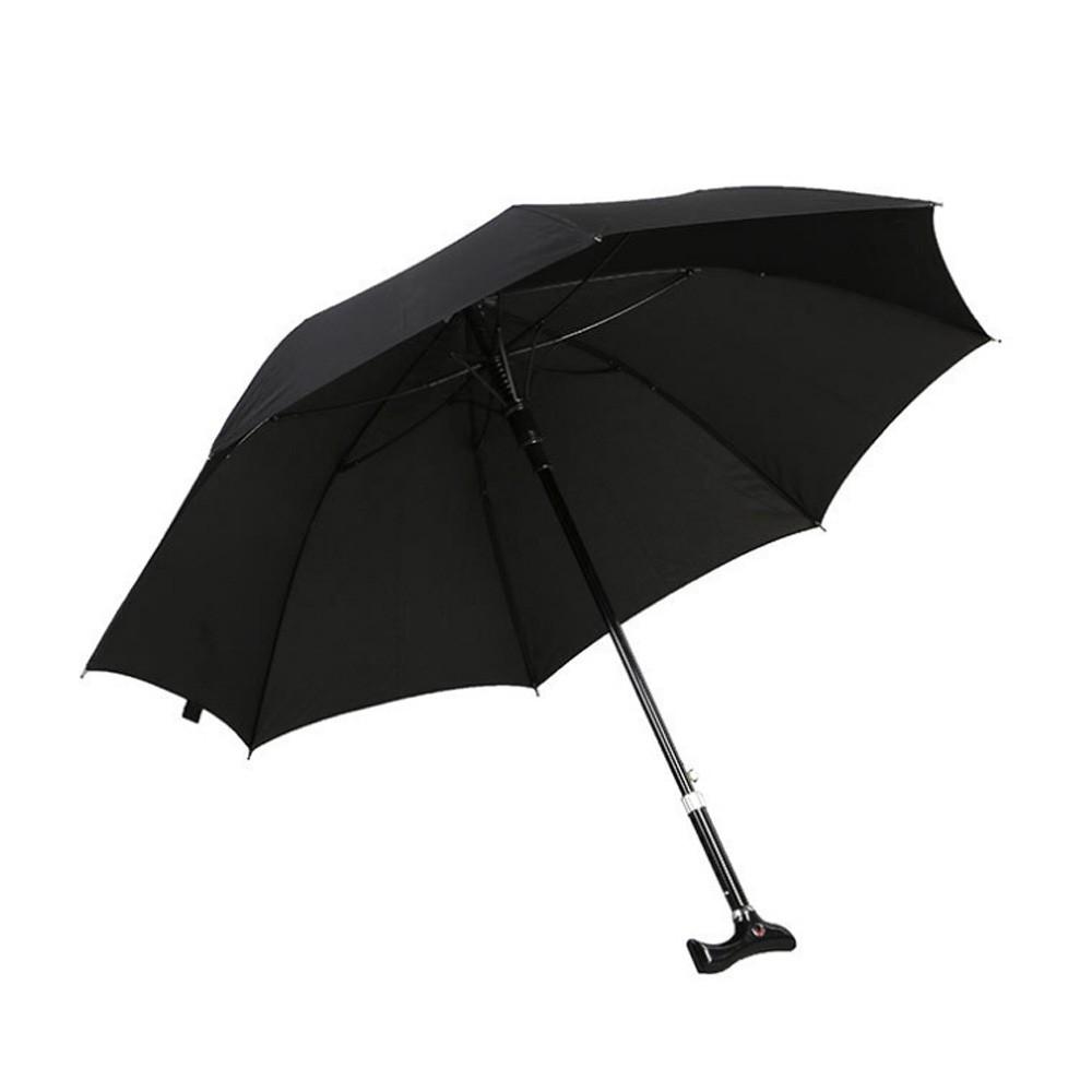 戶外用品可調節長短雨傘拐杖傘登山杖(加固型)I74