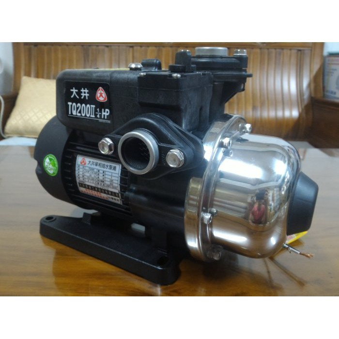 ╭☆優質五金☆╮大井TQ 200*1/4HP電子穩壓加壓馬達*加壓機*低噪音 TQ200B