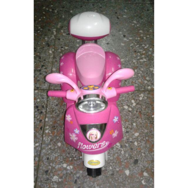 ☆二手兒童電動三輪車粉紅色1280