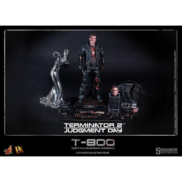 野獸國 Hot Toys – DX13 –《 魔鬼終結者 》阿諾 T-800 戰損版 Terminator 非 DX10