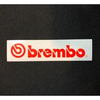 Brembo 白底紅字 貼紙 防水車貼 行李箱貼紙 爆炸貼 - B2 機車倉庫 新北市