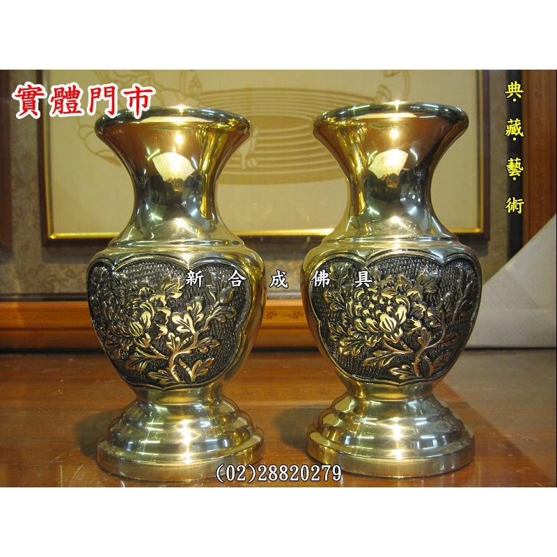 新合成佛具木雕佛桌神桌佛像神像 6寸 8寸 1尺 牡丹花瓶