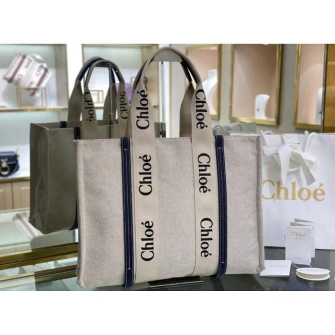 二手 Chloe Woody Tote Bag托特包購物包手提包