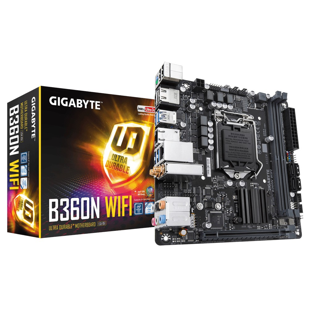 【曜買電腦&主機板】技嘉 B360N WIFI(mini-ITX/2H1P/M.2/2*I網/ac+BT5/註四年)