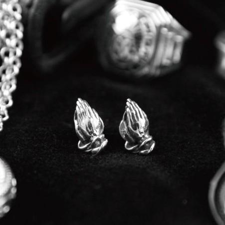 【METALIZE】 925純銀祈禱手耳環 官方直營店鋪