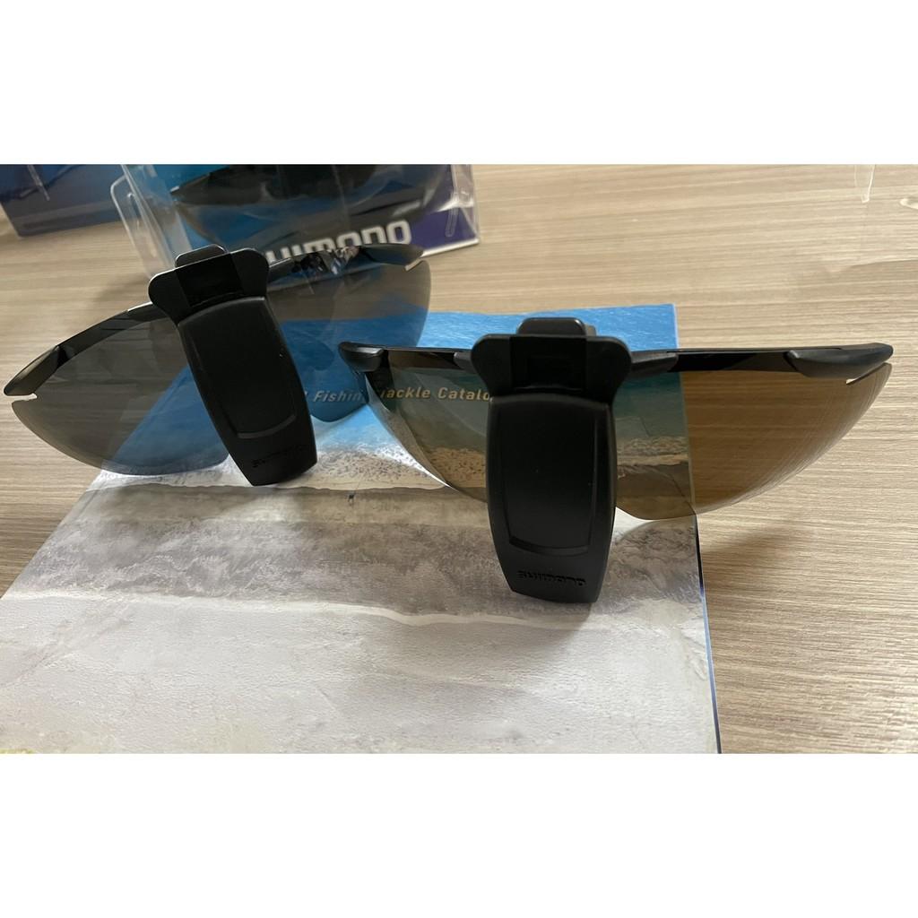 🔥【平昇釣具】🔥SHIMANO HG-002N 太陽眼鏡 墨鏡 偏光 黑色/褐色鏡片 夾帽 翻轉 釣魚專用眼鏡 全新