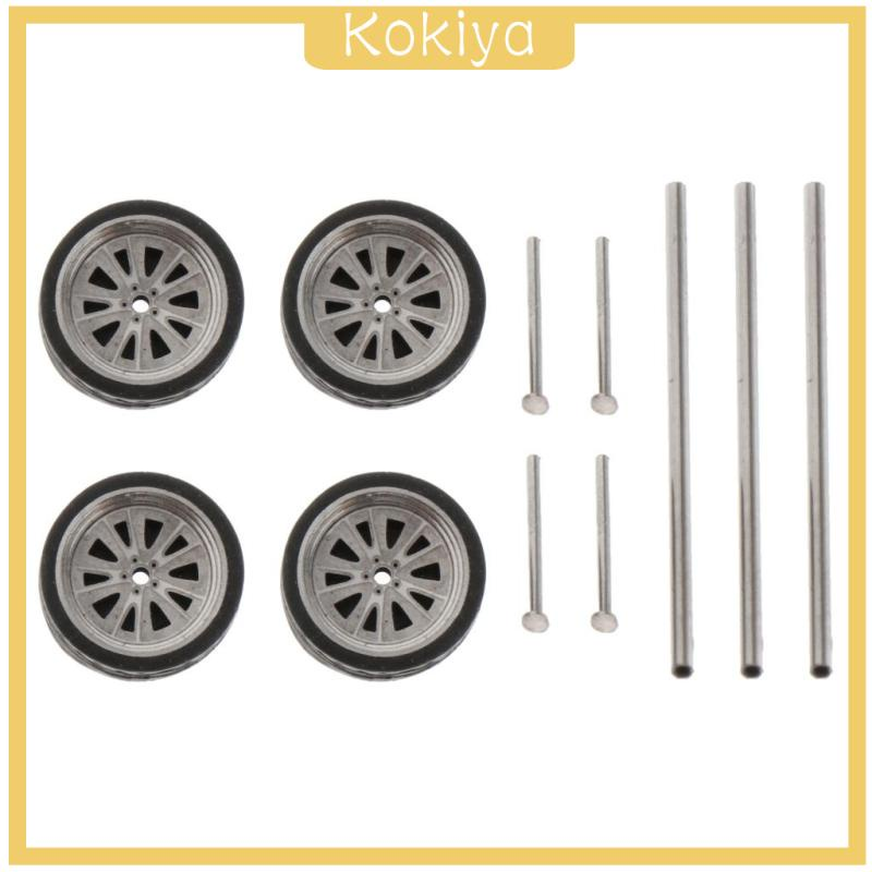 [KOKIYA] 更換1/64刻度金屬輪輪胎套件用於火柴盒汽車零件