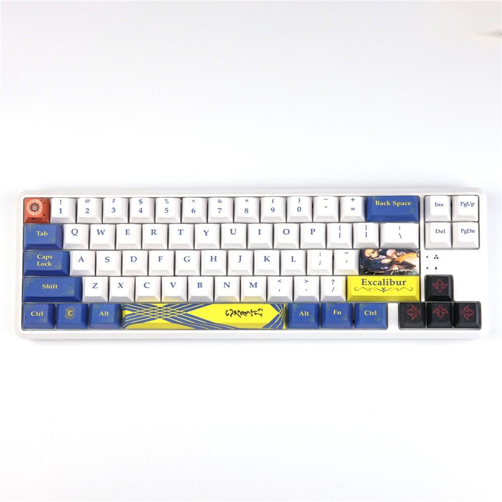 #HY現貨#阿爾托莉亞PBT熱升華鍵帽原廠高小全套機械鍵盤用兼容TTC櫻桃G軸