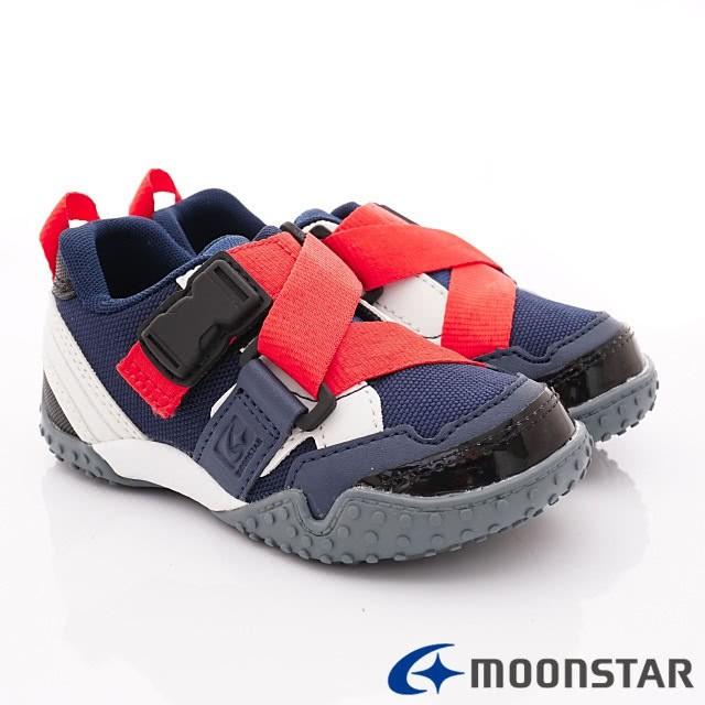 日本 MOONSTAR Carrot機能童鞋 腳踏車鞋-公園玩耍速乾款-深藍(15-17cm)