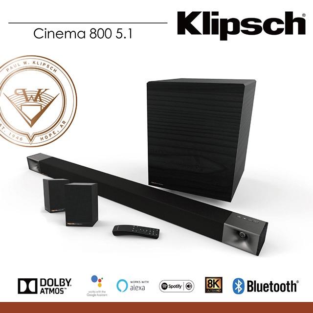 弘達影音多媒體 Klipsch Cinema 800 SoundBar+Surround 3(5.1聲道劇院組) 公司貨