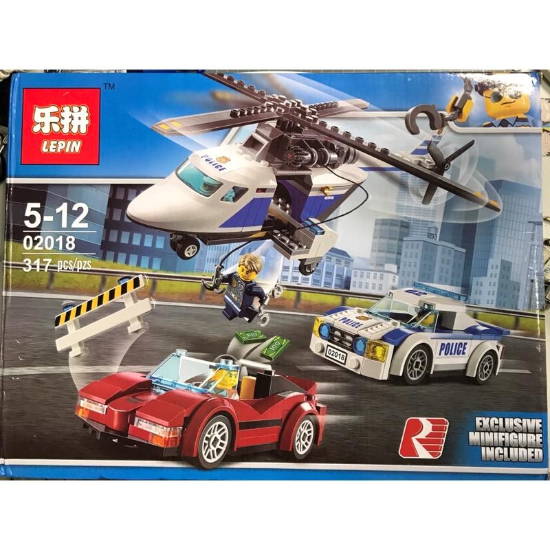 樂拼 02018 城市 CITY 系列 高速追捕 直升飛機 相容 樂高 LEGO 60138