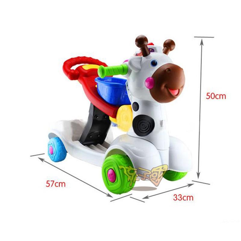 【Hi-toys】多用途三合一小鹿學步車
