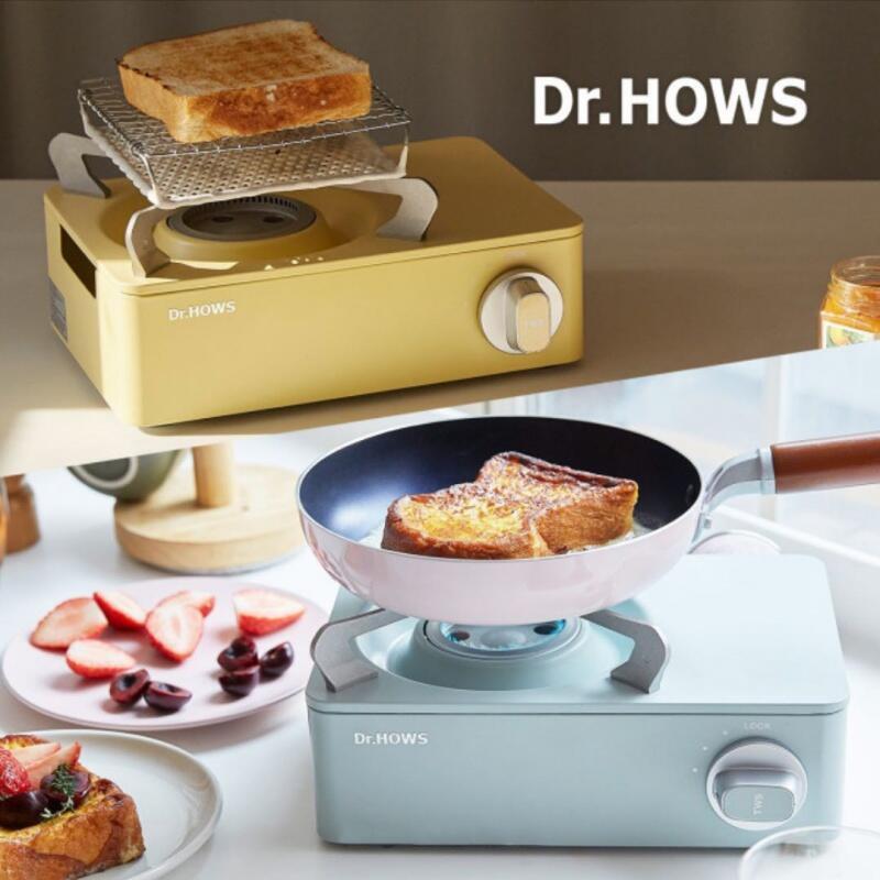 【愛上露營】DR.HOWS 迷你卡式爐 攜帶式瓦斯爐 附收納盒 居家 烤肉 戶外 野炊 露營 爐具