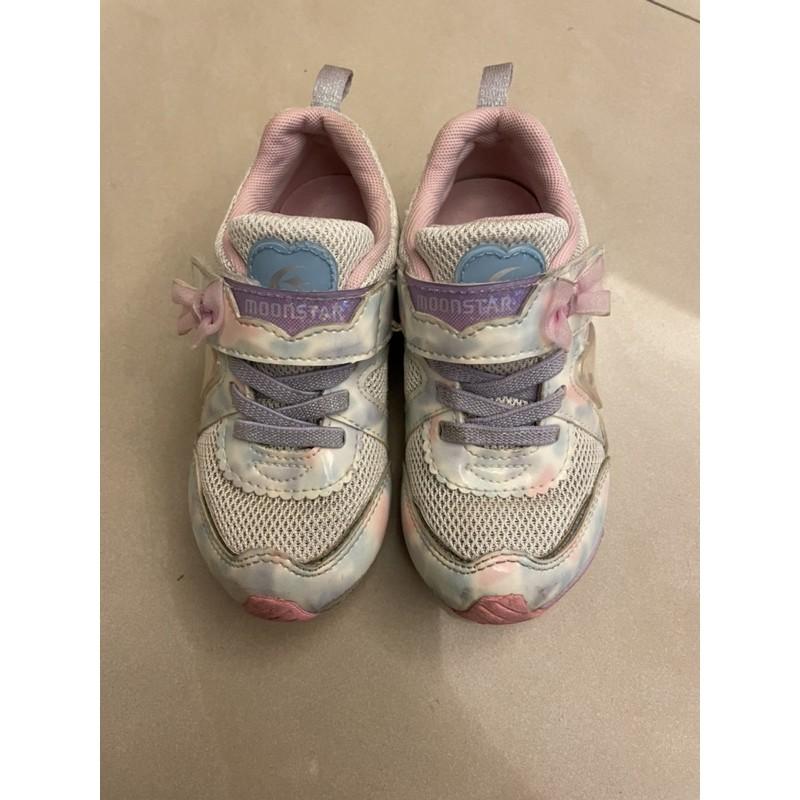 二手 Moonstar月星競速機能鞋,女童鞋16cm