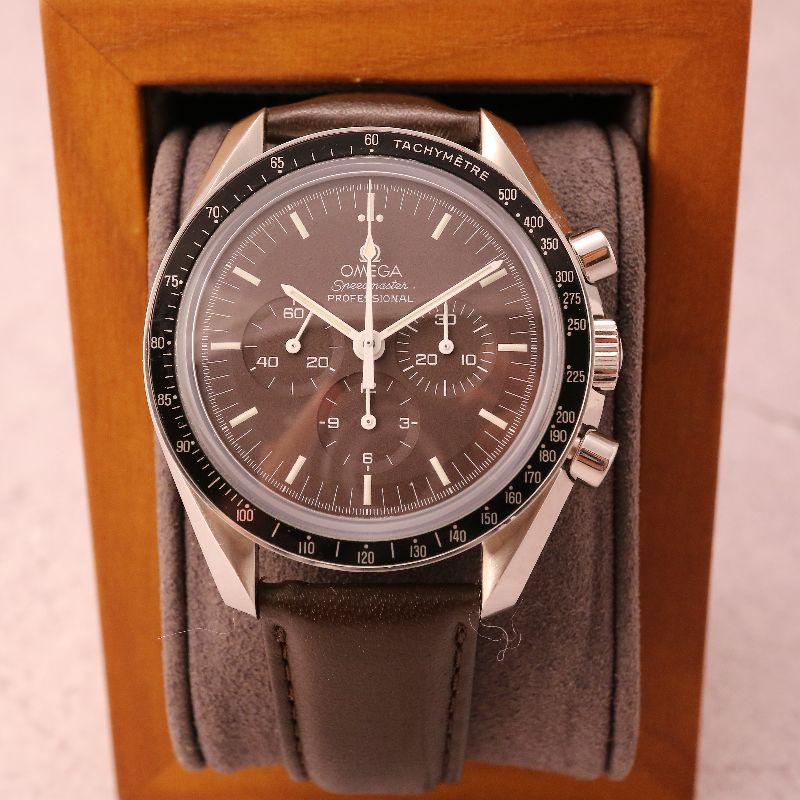 OMEGA Speedmaster moonwatch Chocolate 登月錶特殊巧克力面39mm手上鍊