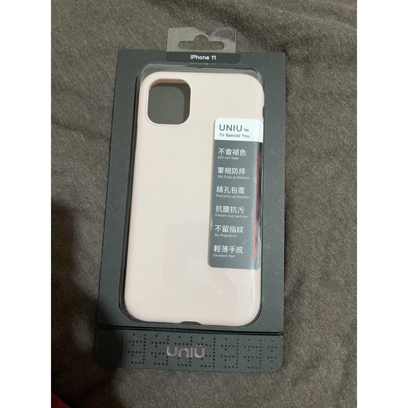 UNIU 優你優 防摔矽膠殼 apple iPhone 11 粉沙色