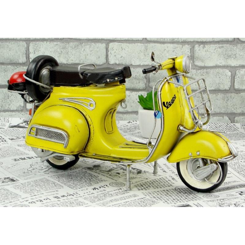 【台灣發貨】【ABS安伯家】Vespa 偉士牌 復古 手工 鐵製 摩托車 GS150 黃色 紅色