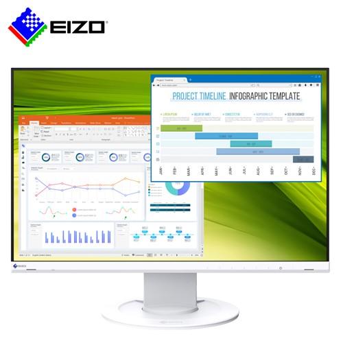 【EIZO】FlexScan EV2360 白色 23吋低藍光低閃頻顯示器