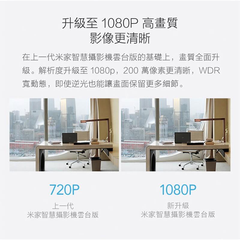雲台版 高清畫質 小米 米家智慧攝影機 1080P 智能 攝像機 360度 全景 手機 家用 網路 監視器 監控 寵物