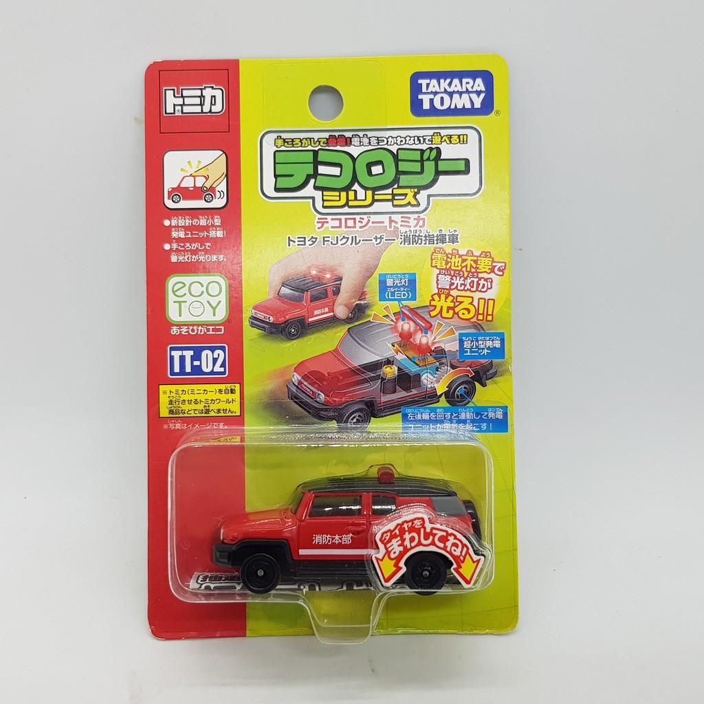 【小車停車場】TOMICA TT-02 TT02 發光車 Toyota FJ Cruiser 消防指揮車