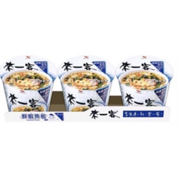 統一來一客杯麵鮮蝦魚板風味63gx3入