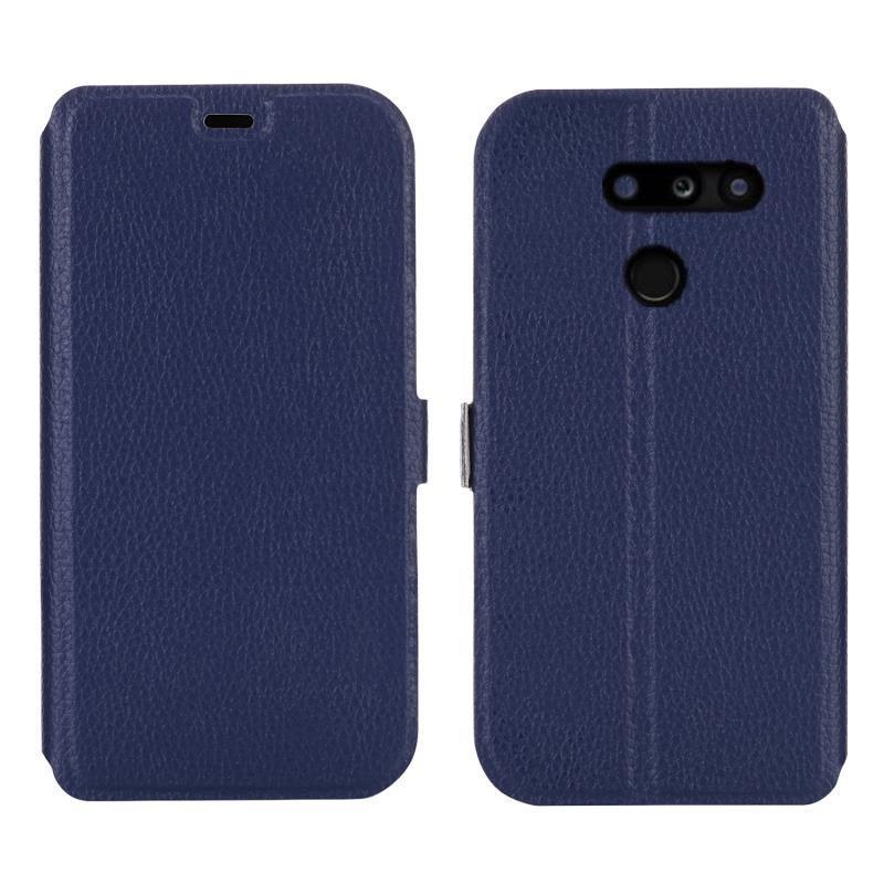 ke適用LG G8 ThinQ保護套LG G8 荔枝紋手機皮套