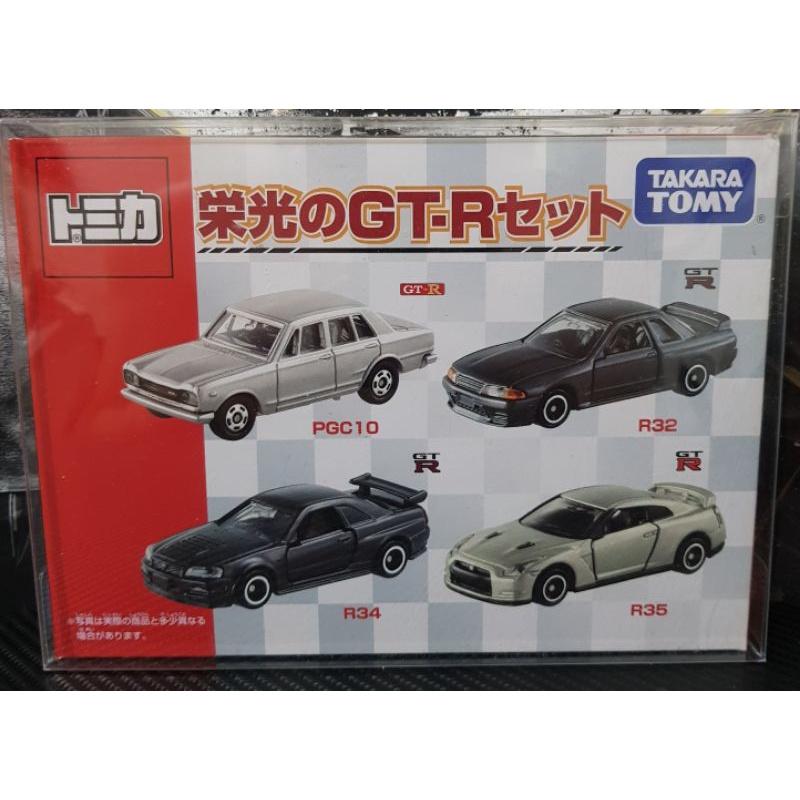 Tomica 榮光 GT-R 套裝四車組PGC10  R32 R34 R35 全新 附膠盒