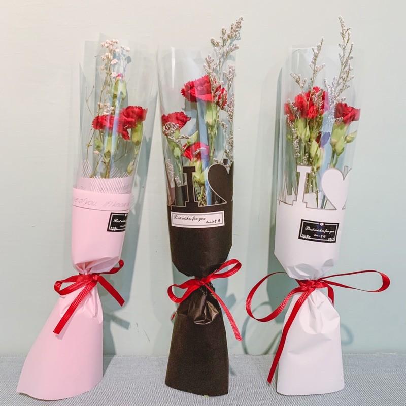 單支康乃馨花束/鮮花康乃馨/天然乾燥花束