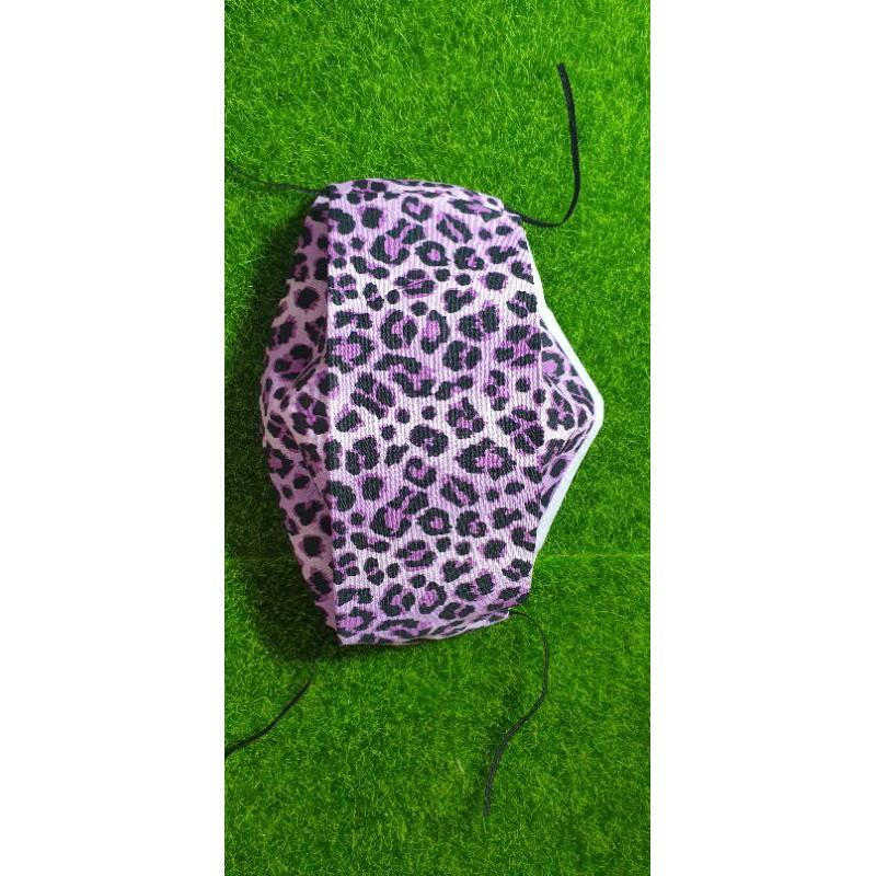 布口罩(舟型)(紫色豹紋款)