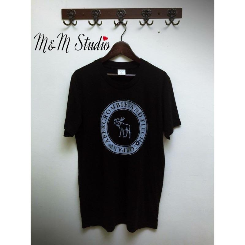 全新✨A&F麋鹿黑色logo短袖T恤(更多館內折扣商品歡迎參觀)
